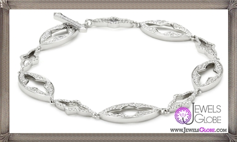 Katie-Decker-Gothic-18k-White-Gold-and-Diamond-Toggle-Bracelet Best 32 Katie Decker Jewelry Designs for This Year