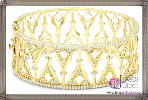 Katie-Decker-Gothic-18k-Yellow-Gold-and-Diamond-Arch-Cuff-Bracelet Best 32 Katie Decker Jewelry Designs for This Year