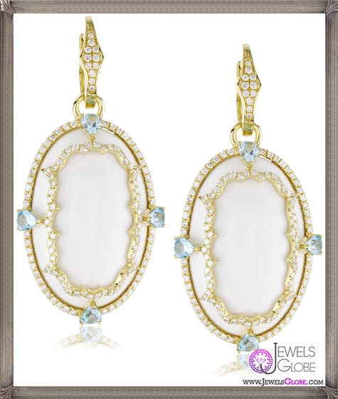 Katie-Decker-Imperial-18k-Blue-Topaz-Over-White-Onyx-Earrings Best 32 Katie Decker Jewelry Designs for This Year