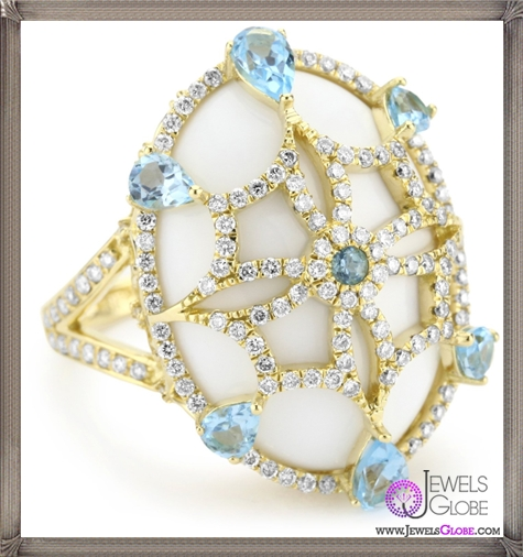 Katie-Decker-Imperial-18k-Blue-Topaz-Over-White-Onyx-Ring Best 32 Katie Decker Jewelry Designs for This Year