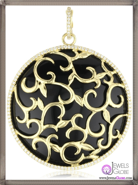Katie-Decker-Ivy-18k-Black-Onyx-and-Diamond-Vine-Pendant-Necklace Best 32 Katie Decker Jewelry Designs for This Year