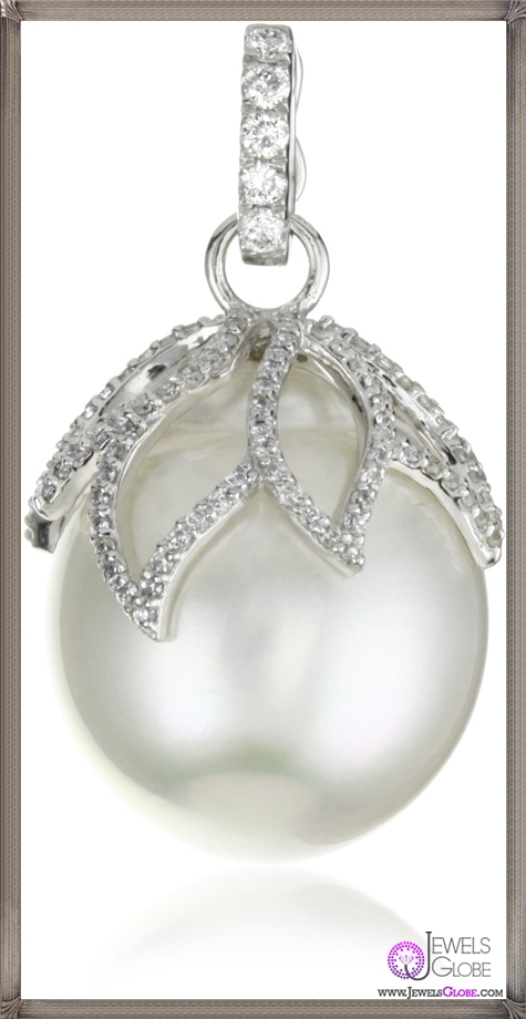 Katie-Decker-Lotus-18k-Diamond-and-South-Sea-Pearl-Pendant-Necklace Best 32 Katie Decker Jewelry Designs for This Year
