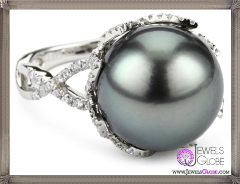 Katie-Decker-Lotus-18k-Diamond-and-Tahitian-Pearl-Ring Best 32 Katie Decker Jewelry Designs for This Year