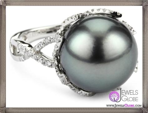 Katie-Decker-Lotus-18k-Diamond-and-Tahitian-Pearl-Ring Best 32 Katie Decker Jewelry Designs for This Year
