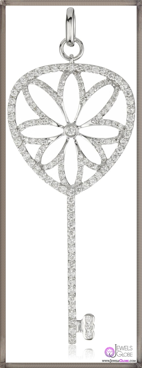 Katie-Decker-Lotus-18k-White-Gold-and-Diamond-Key-Pendant-Necklace Best 32 Katie Decker Jewelry Designs for This Year