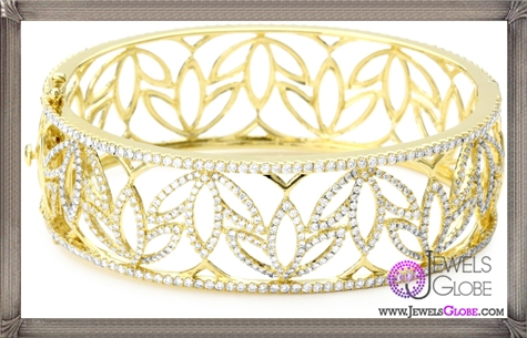 Katie-Decker-Lotus-18k-Yellow-Gold-and-Diamond-Cuff-Bracelet Best 32 Katie Decker Jewelry Designs for This Year