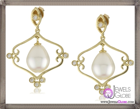 Katie-Decker-Mary-18k-Freshwater-Pearl-and-Diamond-Earrings Best 32 Katie Decker Jewelry Designs for This Year