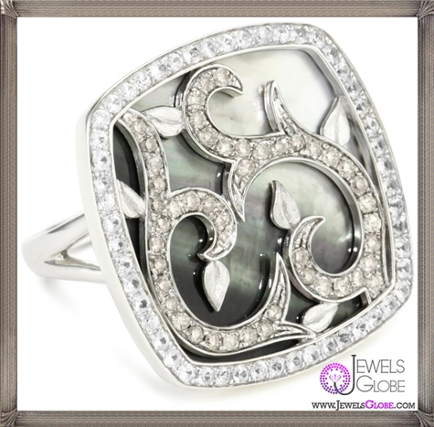 Katie-Decker-Mother-Of-Pearl-Vine-Ring Best 32 Katie Decker Jewelry Designs for This Year