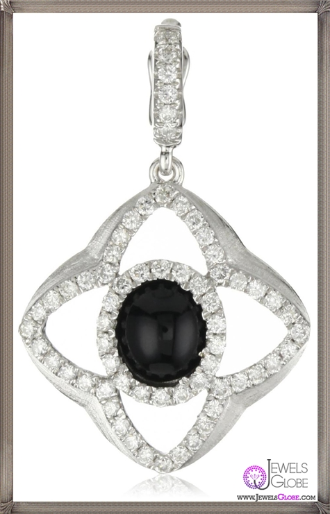Katie-Decker-Quatrefoil-18k-Black-Onyx-and-Diamond-Charm Best 32 Katie Decker Jewelry Designs for This Year