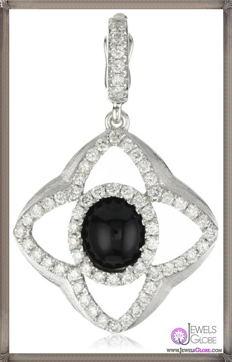 Katie-Decker-Quatrefoil-18k-Black-Onyx-and-Diamond-Charm Best 32 Katie Decker Jewelry Designs for This Year