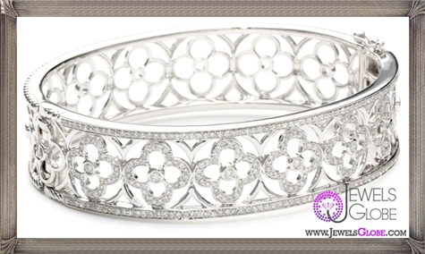 Katie-Decker-Quatrefoil-18k-White-Gold-and-Diamond-Bracelet Best 32 Katie Decker Jewelry Designs for This Year