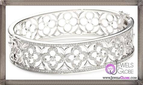 Katie-Decker-Quatrefoil-18k-White-Gold-and-Diamond-Bracelet Best 32 Katie Decker Jewelry Designs for This Year