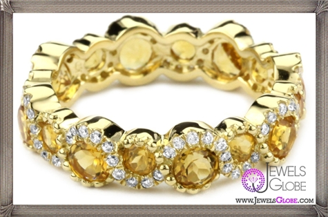 Katie-Decker-Stackable-18k-Citrine-and-Diamond-Band Best 32 Katie Decker Jewelry Designs for This Year
