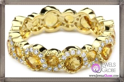 Katie-Decker-Stackable-18k-Citrine-and-Diamond-Band Best 32 Katie Decker Jewelry Designs for This Year