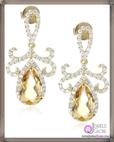 Katie-Decker-Tudor-18k-Citrine-and-Diamond-Earrings Best 32 Katie Decker Jewelry Designs for This Year