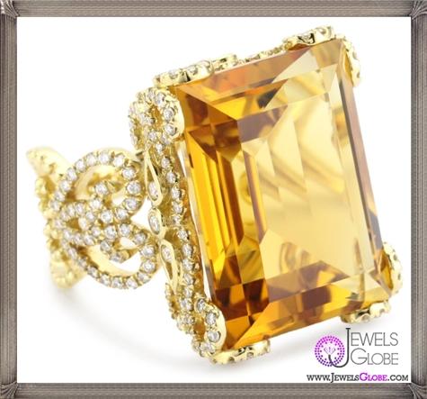 Katie-Decker-Tudor-18k-Citrine-and-Diamond-Ring Best 32 Katie Decker Jewelry Designs for This Year