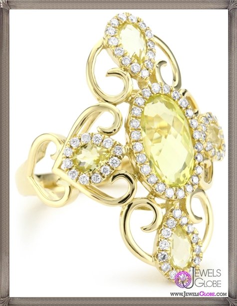 Katie-Decker-Tudor-18k-Lemon-Quartz-and-Diamond-Catherine-Ring Best 32 Katie Decker Jewelry Designs for This Year