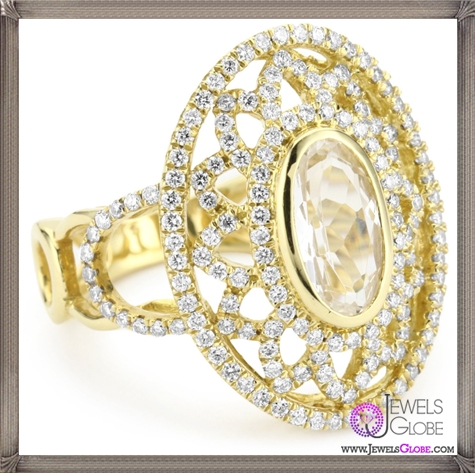 Katie-Decker-Venetian-18k-White-Topaz-and-Diamond-Ring Best 32 Katie Decker Jewelry Designs for This Year