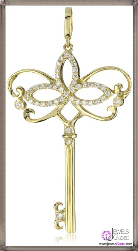 Katie-Decker-Venetian-18k-Yellow-Gold-Masquerade-Key-Pendant-Necklace Best 32 Katie Decker Jewelry Designs for This Year