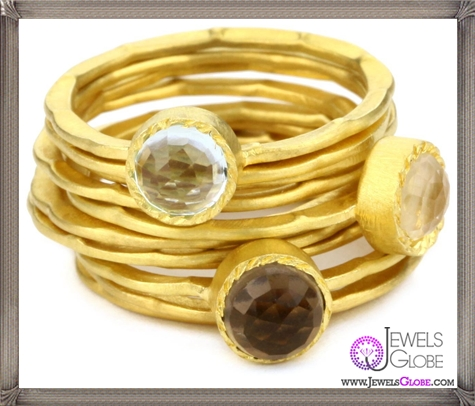 Kevia-Genevieve-Rose-Cut-Stone-and-Pounded-Band-Stacking-Rings How to Choose Kevia Jewelry: Tips and Facts