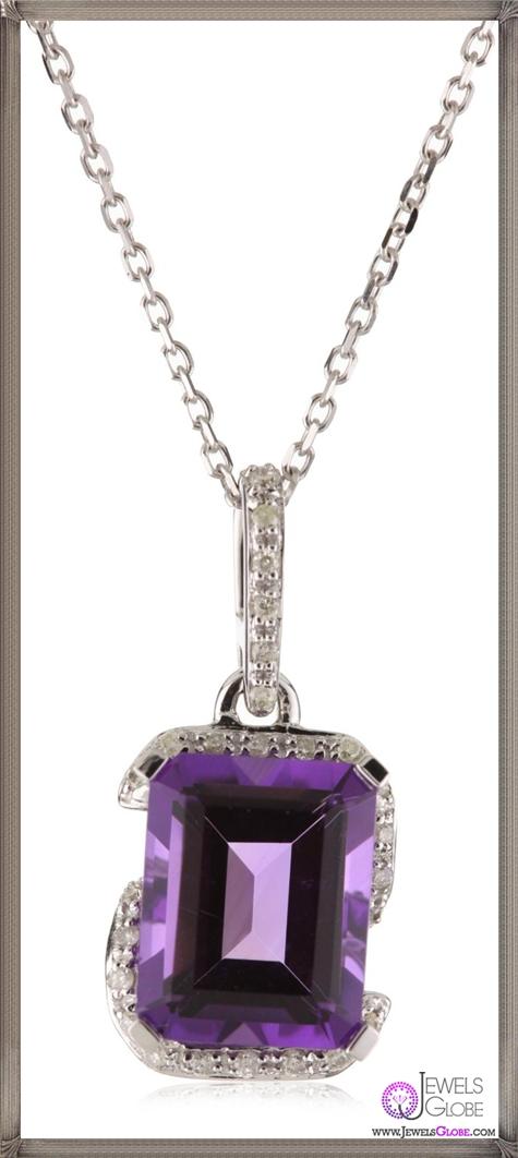 Kobelli-3-ct-Amethyst-Round-Diamond-Pendant-Necklace Kobelli Jewelry and its Best STYLISH 31 Designs
