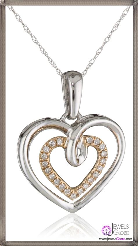 Kobelli-Amour-Rose-and-White-Gold-Round-Diamond-Fashion-Pendant-Necklace Kobelli Jewelry and its Best STYLISH 31 Designs