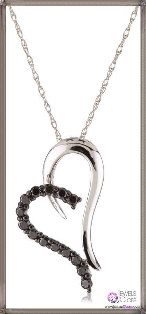 Kobelli-Black-Diamond-Heart-Shaped-Pendant-Necklace Kobelli Jewelry and its Best STYLISH 31 Designs