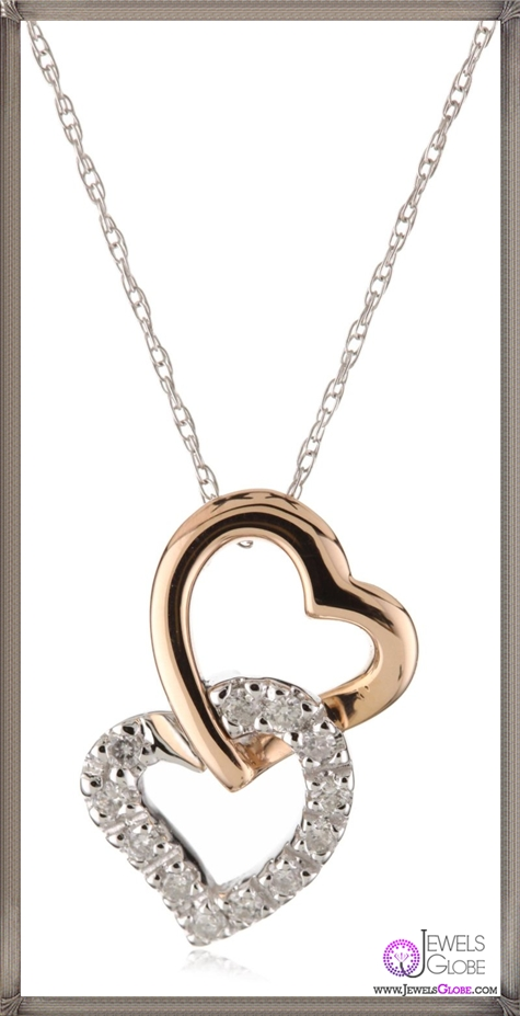 Kobelli-Diamond-14k-Rose-and-White-Gold-Heart-Shaped-Pendant-Necklace Kobelli Jewelry and its Best STYLISH 31 Designs