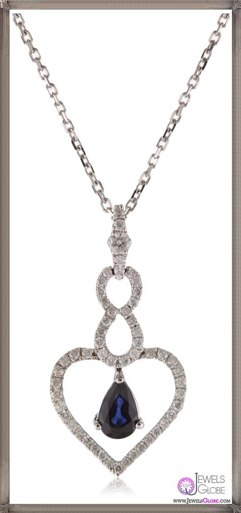 Kobelli-Round-Diamond-Blue-Sapphire-Pendant-Necklace Kobelli Jewelry and its Best STYLISH 31 Designs