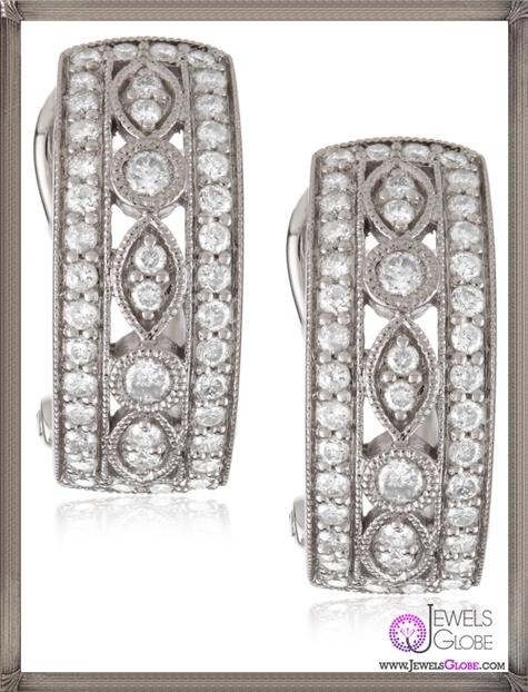 Kobelli-Round-Diamond-Hoop-Earrings Kobelli Jewelry and its Best STYLISH 31 Designs