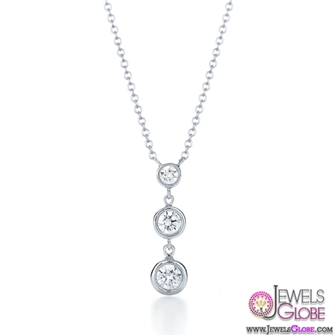Kwiat-Classic-Collection-Bezel-set-three-stone-drop-diamond-necklace Best 10 Cheapest Diamond Necklaces For Sale