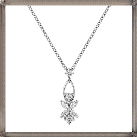 Kwiat-womens-18-karat-white-gold-butterfly-style-diamond-necklace The 13 Most Stylish White Gold Necklaces For Women and Choice TIPS