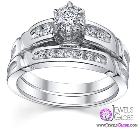 Ladies-Vintage-Wedding-Set-with-Channel-Diamonds Vintage Wedding Ring Sets