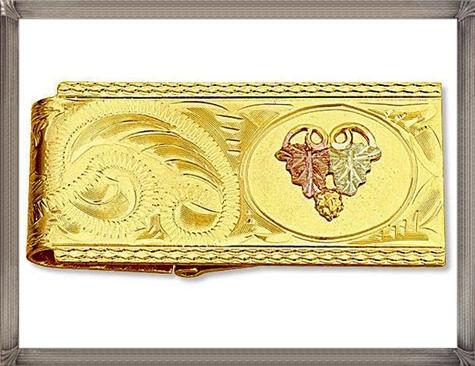 Landstroms-Black-Hills-Gold-Money-Clip-with-Leaves The 25 Most Popular Gold Money Clip Designs