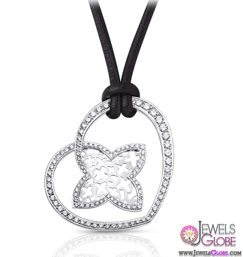 Large-Cœur-pendant-in-white-gold-with-diamond-by-Louis-Vuitton-Collections Best 10 Cheapest Diamond Necklaces For Sale