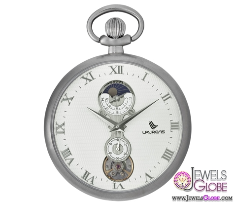 Laurens-Mens-Lepine-B-Mechanical-Moon-Phase-Mens-Pocket-Watch Latest pocket watches for men (HOT Styles)