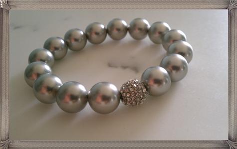Light-Gray-Pearl-Bracelet-Bridesmaid-Gift-Bridal-Jewelry-Beaded-Bracelet 28+ Most Amazing Pearl Bracelets For Brides