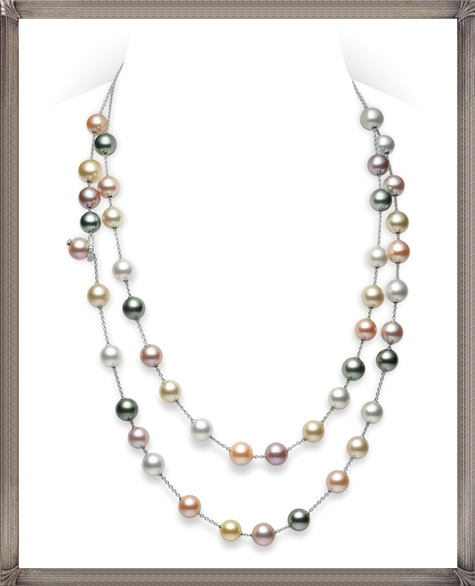 Long-Multicolor-Pearl-Necklace-Pearls-in-Motion The 15 GREATEST Mikimoto Pearl Necklaces