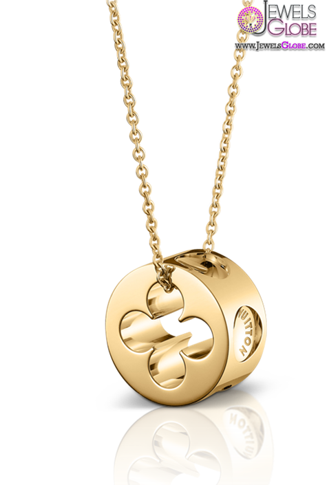 Louis-Vuitton-Large-Empreinte-pendant-in-yellow-gold The 29 Most Popular Gold Pendant Designs For Women