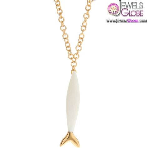 Maiyet-Gold-and-White-Bone-Single-Fish-Baby-Pendant 33 Amazing Designs Of Baby Necklaces