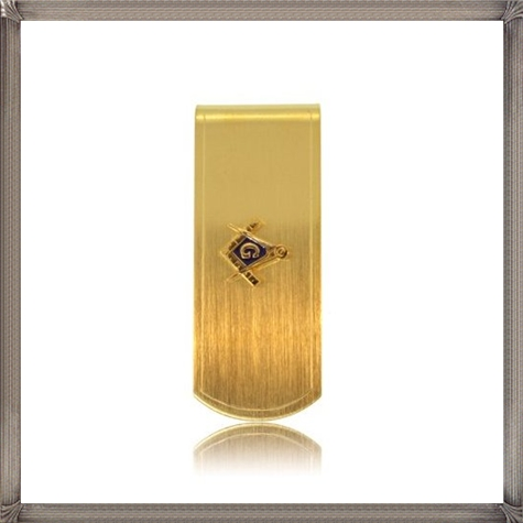 Masonic-Money-Clip-Yellow-Metal-Gold-Electroplate-New The 25 Most Popular Gold Money Clip Designs