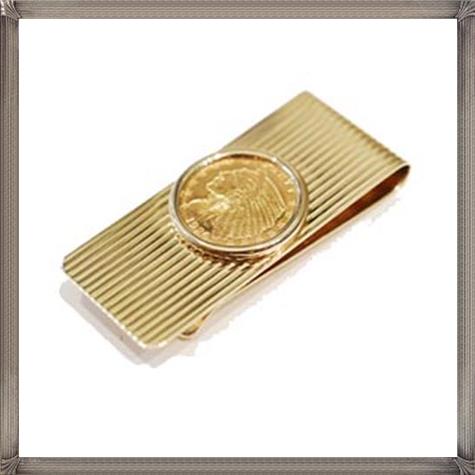 Medium-Gold-Coin-Money-Clip The 25 Most Popular Gold Money Clip Designs