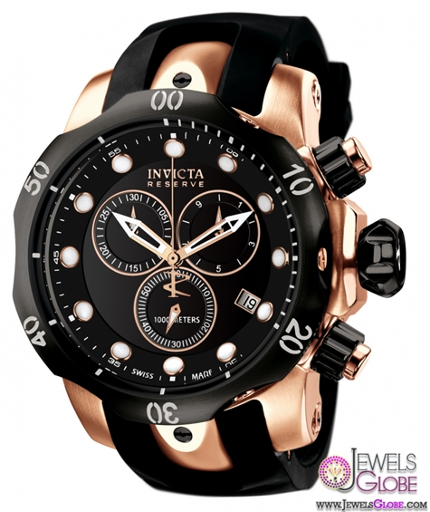 Mens-Invicta-Reserve-Subaqua-Venom-Rubber-watch Stylish Invicta Watches For Men