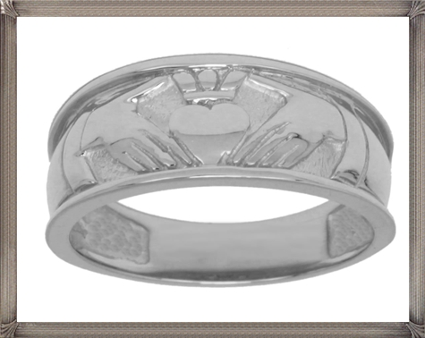 Mens-Silver-or-Gold-Irish-Claddagh-Wedding-Ring 5 CRITICAL Tips You Should Keep in Mind When Buying Men's Silver Wedding Bands