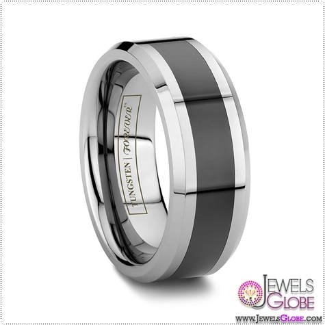 Mens-Tungsten-And-Black-Ceramic-Band More Reasons to Get Men's Pink Ceramic Wedding Bands
