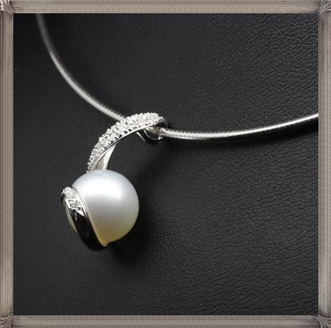Mikimoto-18K-White-Gold-Rhapsody-Natural-Pearl-Diamond-Pendant-Necklace The 15 GREATEST Mikimoto Pearl Necklaces