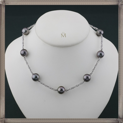 Mikimoto-18KWG-11MM-Black-South-Sea-Pearl-Necklace The 15 GREATEST Mikimoto Pearl Necklaces