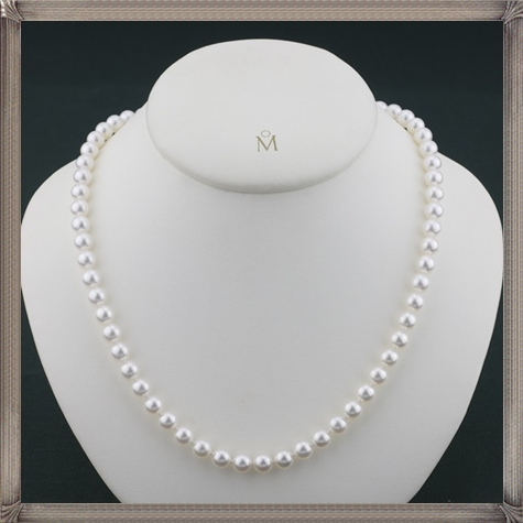 Mikimoto-18KWG-Princess-6.5-7.0mm-A1-Pearl-Necklace The 15 GREATEST Mikimoto Pearl Necklaces