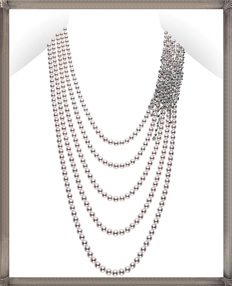 Mikimoto-Akoya-pearl-necklace-with-diamonds The 15 GREATEST Mikimoto Pearl Necklaces