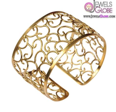 Mirabelle-brass-lace-cuff-gold-cuffs-art-nouveau-inspired-bracelet 35 Hot Cuff Bracelets For Women